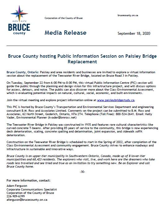 Bridge Meeting Media Release