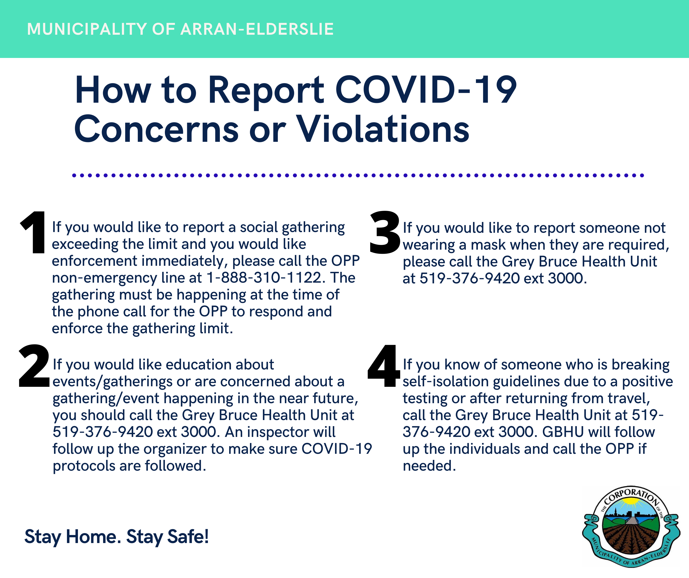 How to report COVID-19 Concerns and Violations