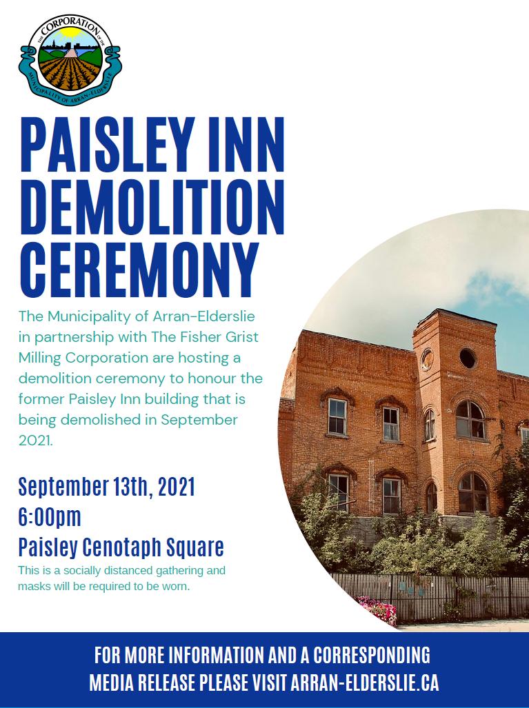Paisley Inn Demolition Ceremony