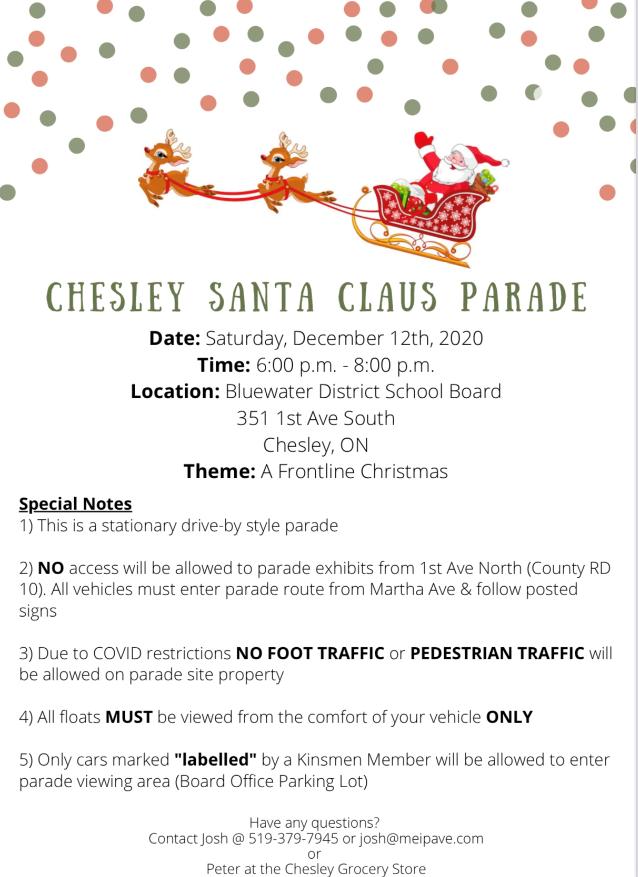 Chesley Parade 2020